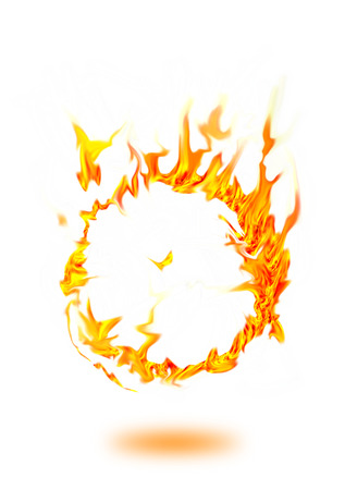 fire circle frame  Stock Photo