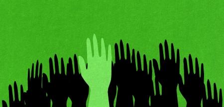 green hand  Фото со стока