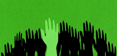 green hand  Stock Photo