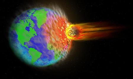 crashed: Comet crashed into Earth