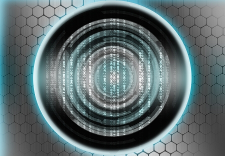 cyber circle abstract digital background