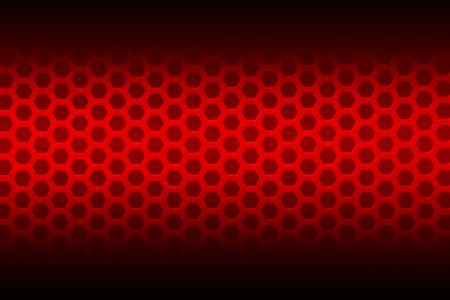 red hexagon background  photo