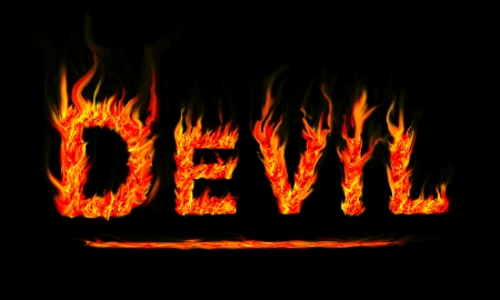 Fire devil text photo