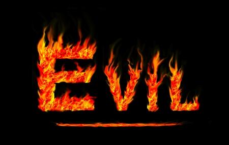 Fire evil text