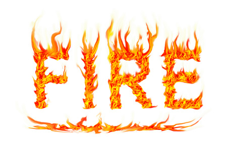 fire text  Stock Photo