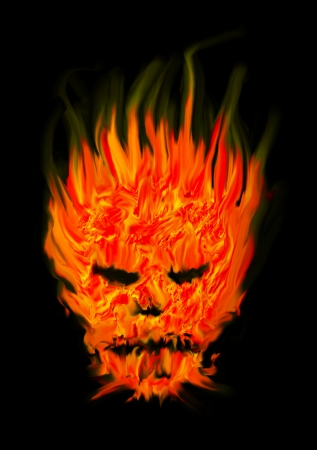 head devil abstract fire  photo