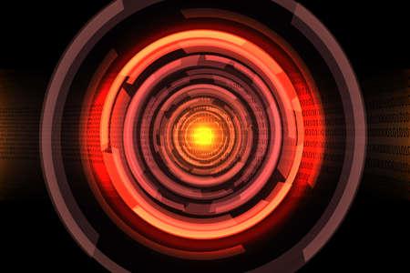 red circle abstract digital  photo