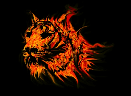 tiger abstract fire