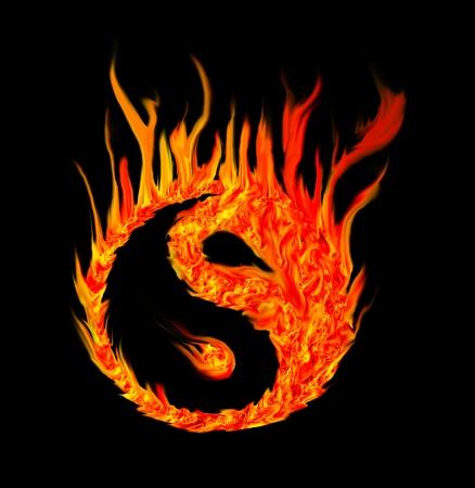 yin y yan: fuego yin yang Foto de archivo