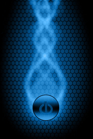 blue power button abstract line Stock Photo - 22500177