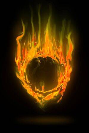 abstract fire circle frame photo
