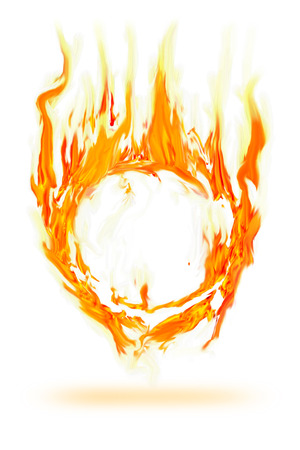 ring of fire: abstract fire circle frame  Stock Photo