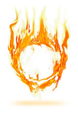 abstract fire circle frame  Standard-Bild