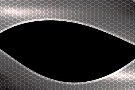 ber: hexagon steel background  Stock Photo