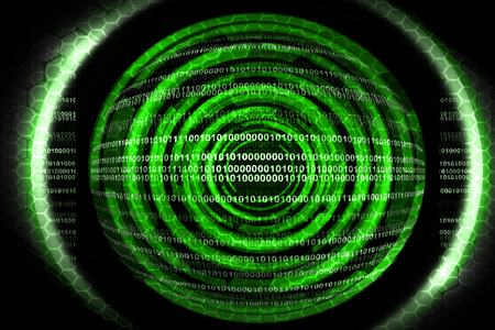Abstract green technology  Stock Photo