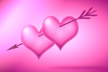 abstract pink Heart  photo
