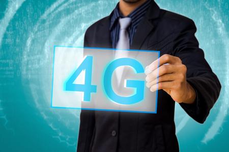4G by businessman  photo