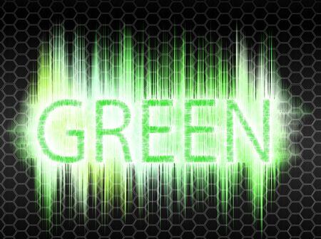 green text photo