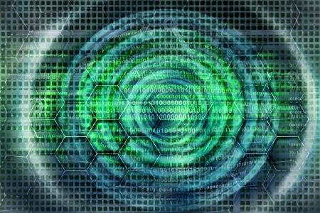green abstract technology background  photo
