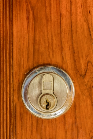 locking on the wooden door photo