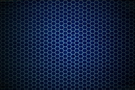 dark blue hexagon background Stock Photo - 22584934