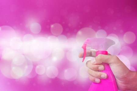 pink fabric softener background  photo