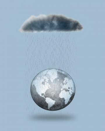 rain fall the world  photo