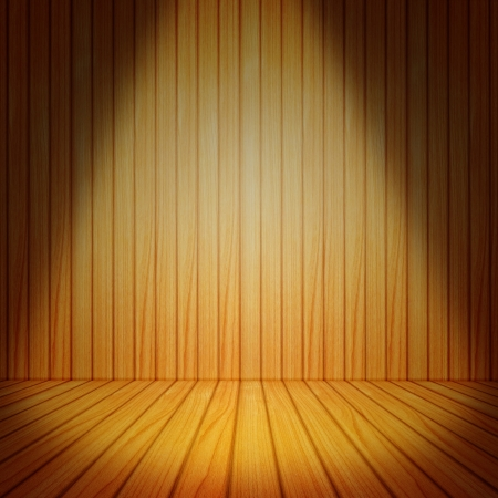 Stage light on wood background  photo