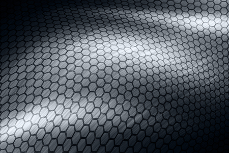 steel hexagon surface  photo