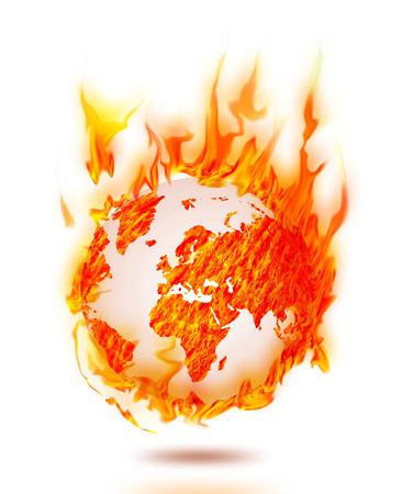 world earth burning  Banco de Imagens