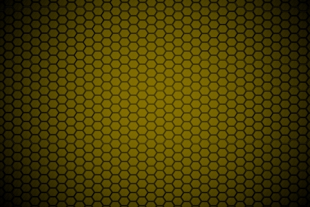yellow hexagon steel texture background  photo