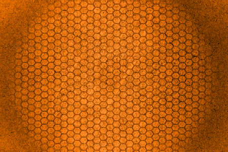 orange hexagon  photo
