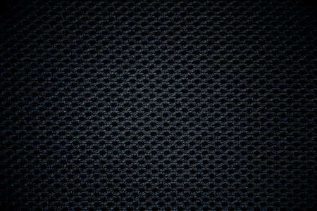 black fabric mesh texture background  photo
