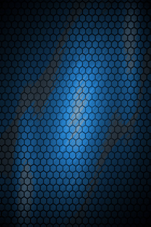 dark blue hexagon steel texture background  photo