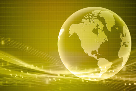 gold world business background  Stock Photo