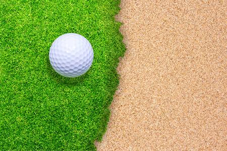 Golf on green background  photo