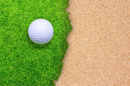 Golf on green background  photo