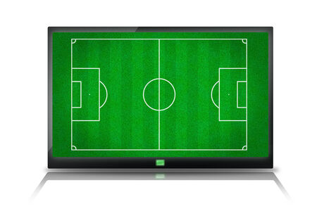 soccer field on tablet  photo