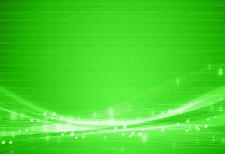 abstract glowing green line background