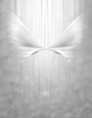 guardian angel: abstract wing on the glowing background