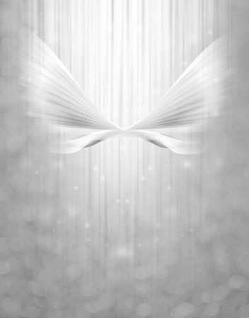 guardian angel: ala abstracto en el fondo brillante Foto de archivo
