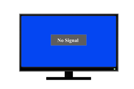 no signal on screen television  photo