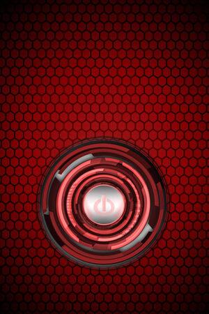 red power button technology  photo