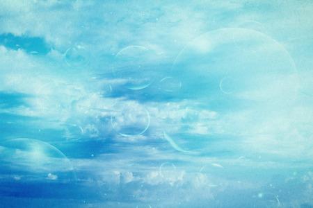 The Wallpaper Bright Blue Bubbles Photo