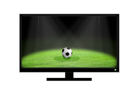 Soccer ball on television