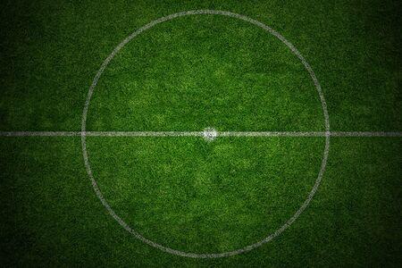 green lines: center soccer field stadium