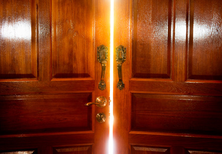 ドア照明 写真素材