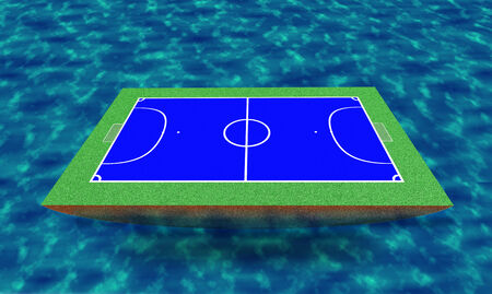 futsal: 3d futsal stadium on the sea