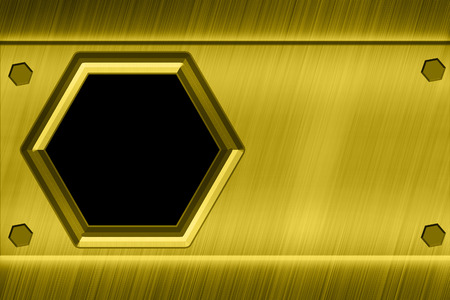 hexagon pattern gold texture  photo