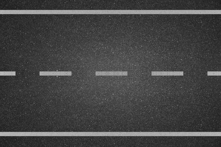 White lines on asphalt road